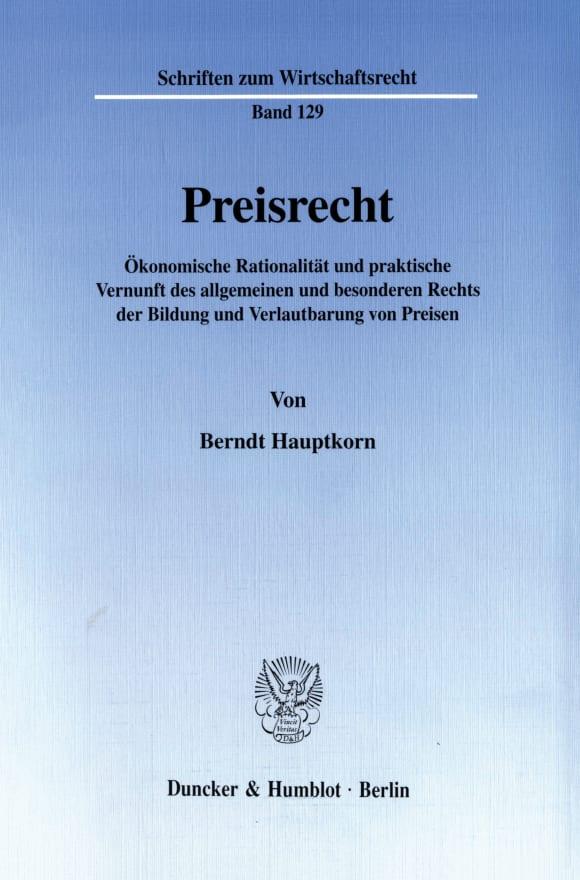 Cover Preisrecht