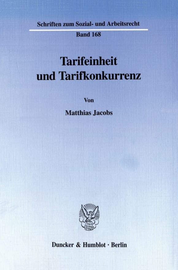 Cover Tarifeinheit und Tarifkonkurrenz