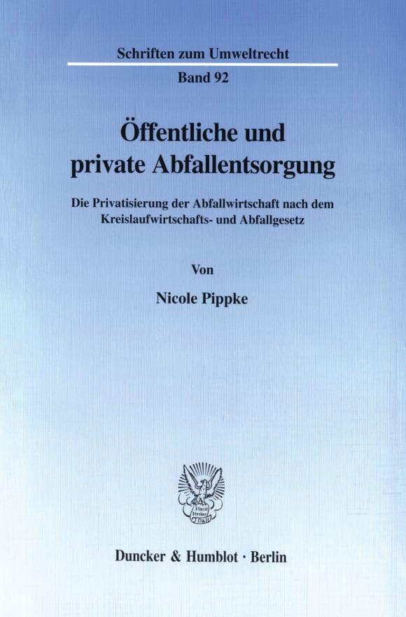 Cover Öffentliche und private Abfallentsorgung