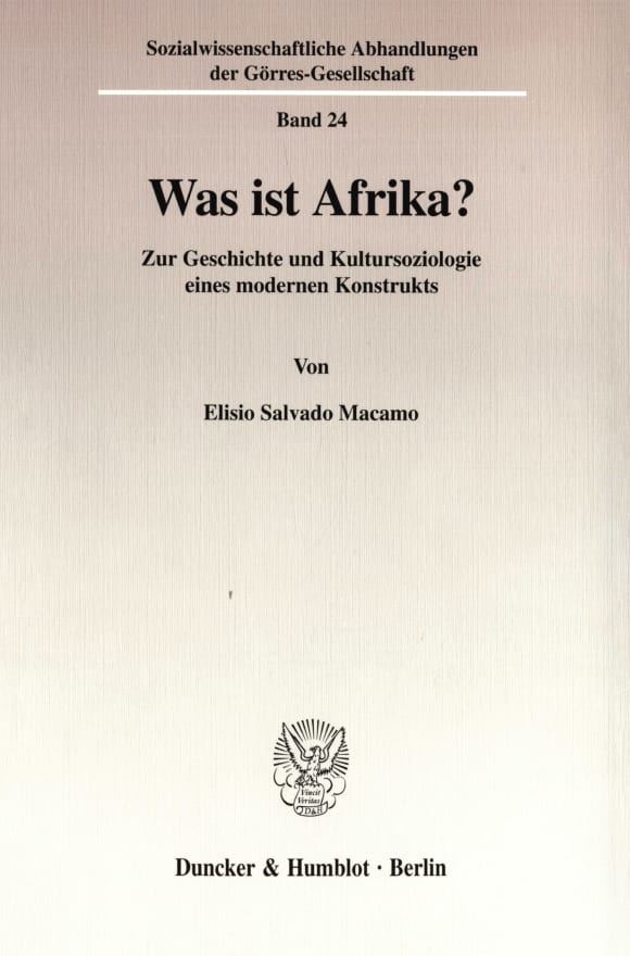 Cover Was ist Afrika?