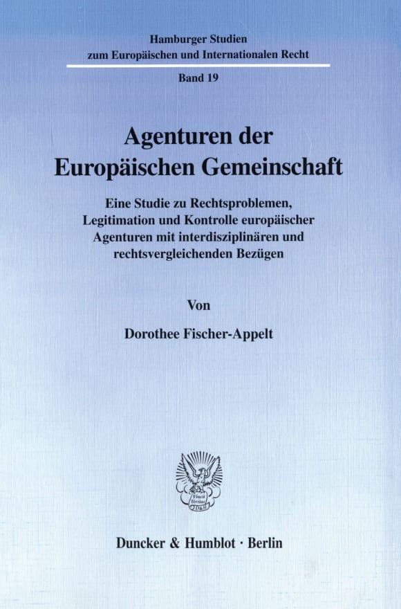 Cover Agenturen der Europäischen Gemeinschaft