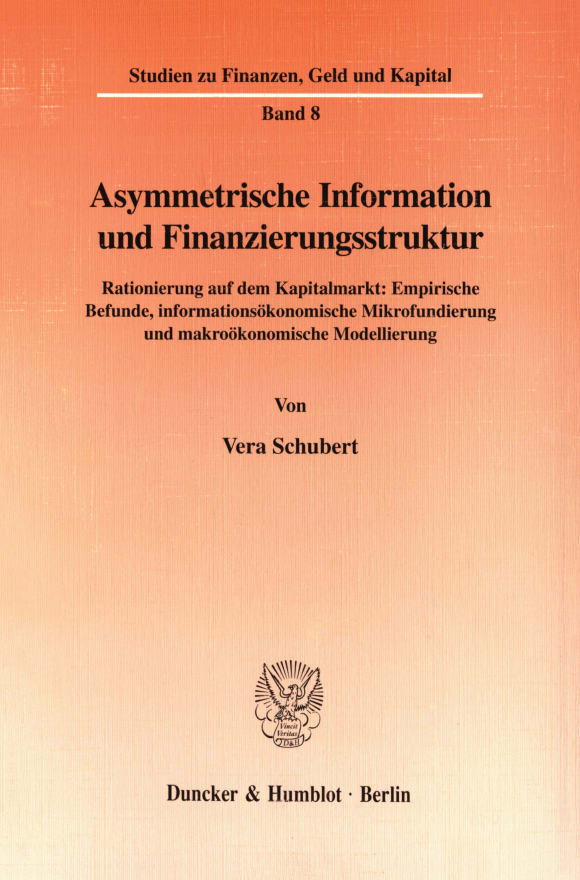 Cover Asymmetrische Information und Finanzierungsstruktur
