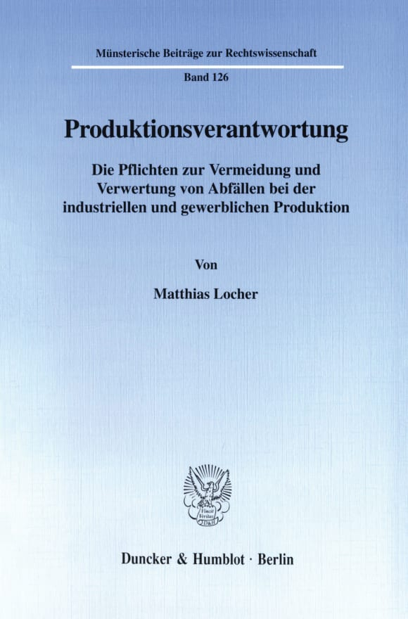 Cover Produktionsverantwortung