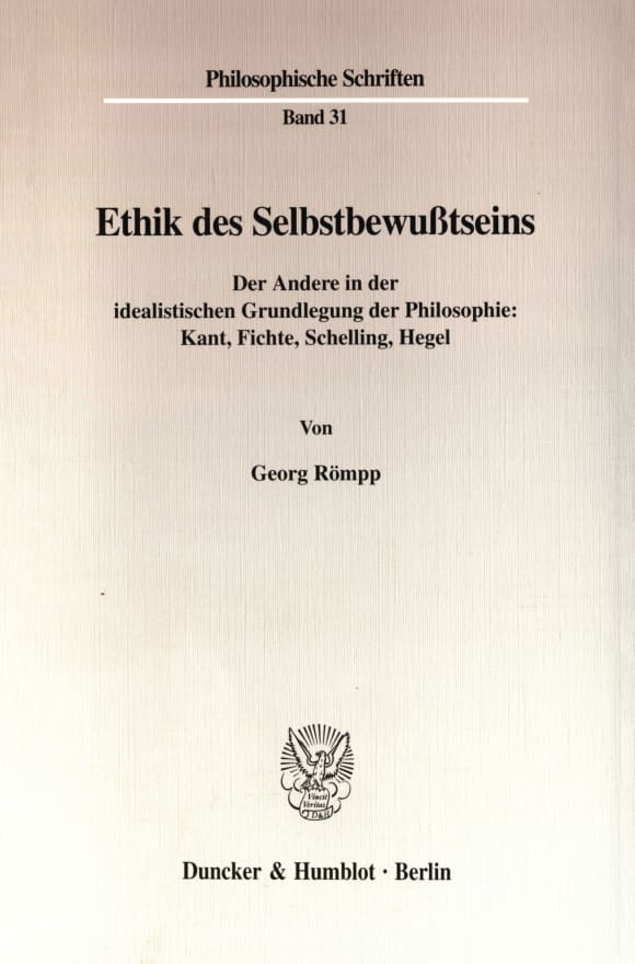 Cover Ethik des Selbstbewußtseins