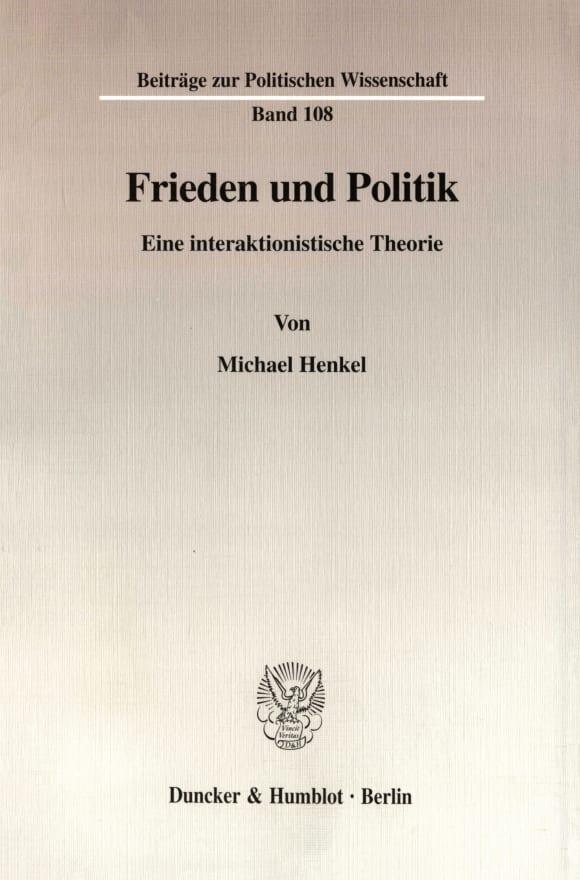 Cover Frieden und Politik