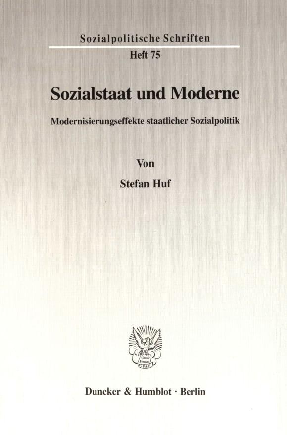 Cover Sozialstaat und Moderne