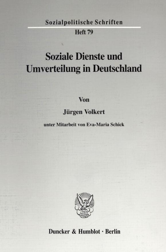 Cover Soziale Dienste und Umverteilung in Deutschland