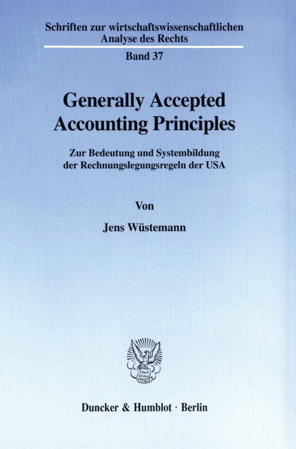 Cover Generally Accepted Accounting Principles