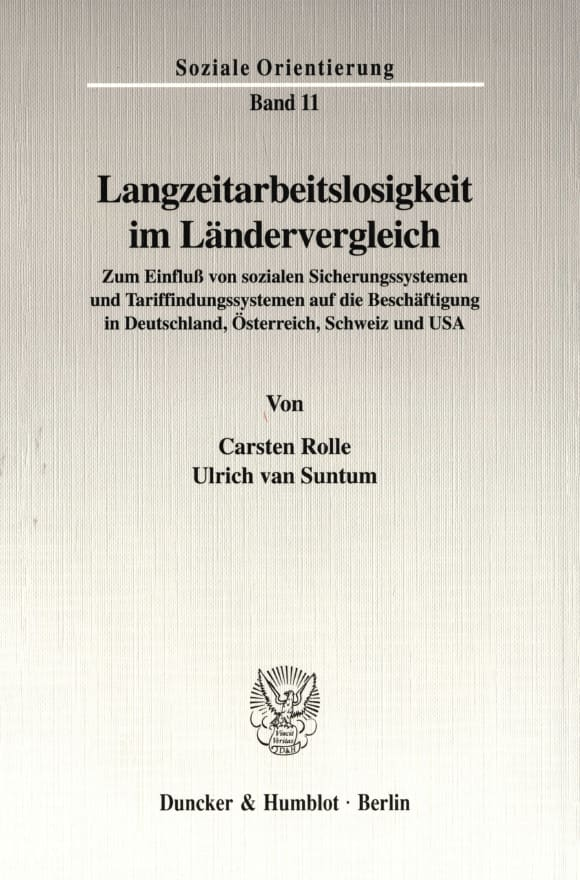 Cover Langzeitarbeitslosigkeit im Ländervergleich