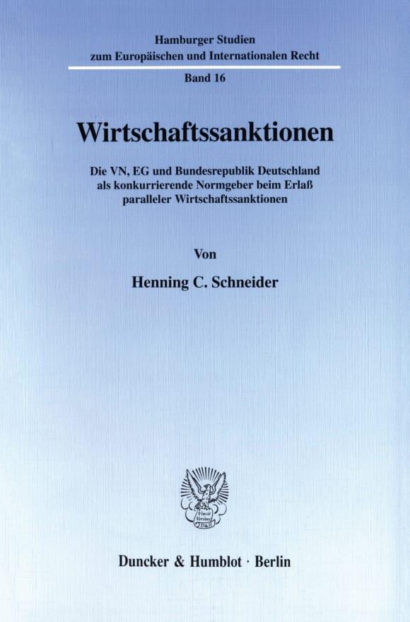 Cover Wirtschaftssanktionen