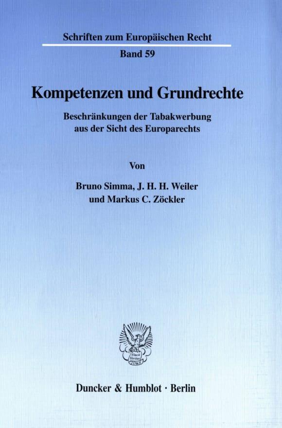 Cover Kompetenzen und Grundrechte