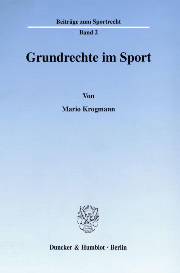 Cover Grundrechte im Sport