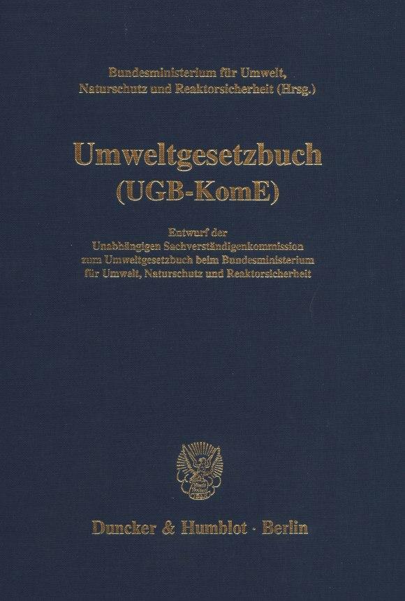 Cover Umweltgesetzbuch (UGB-KomE)