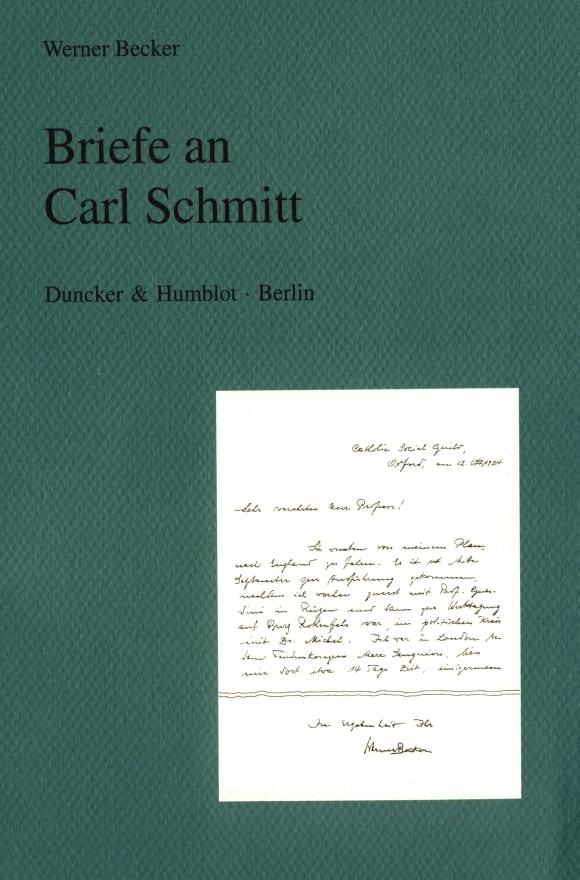 Cover Briefe an Carl Schmitt
