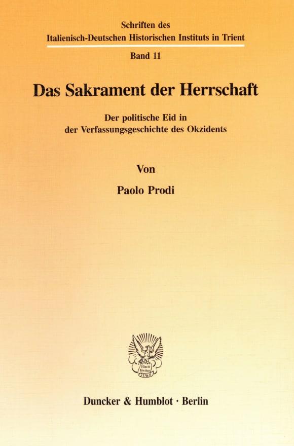 Cover Das Sakrament der Herrschaft