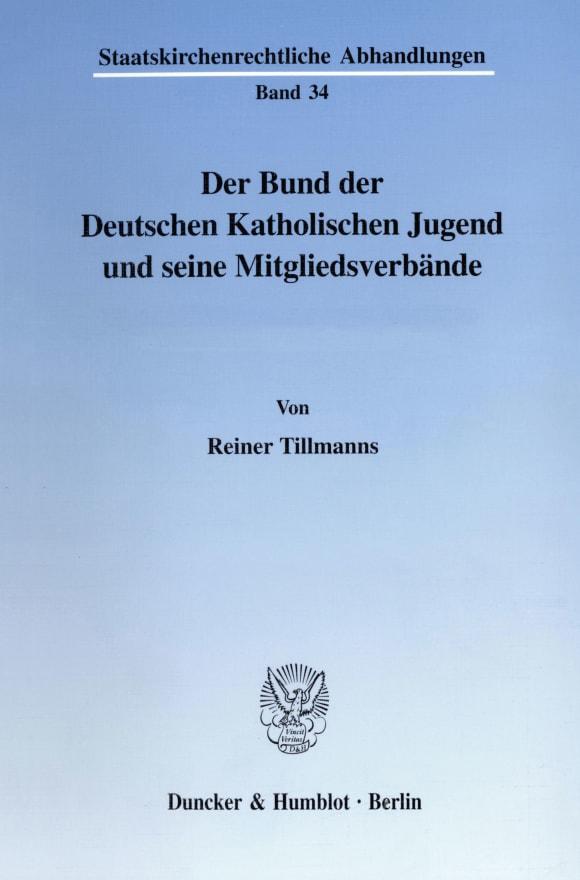 Cover Der Bund der Deutschen Katholischen Jugend und seine Mitgliedsverbände