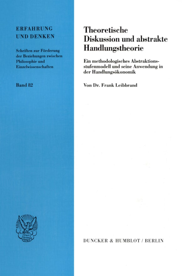 Cover Theoretische Diskussion und abstrakte Handlungstheorie