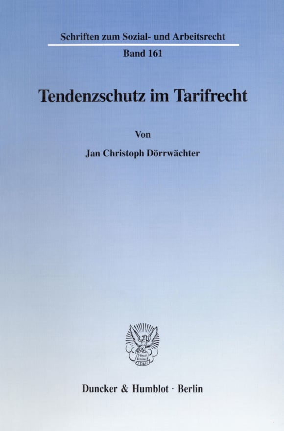 Cover Tendenzschutz im Tarifrecht