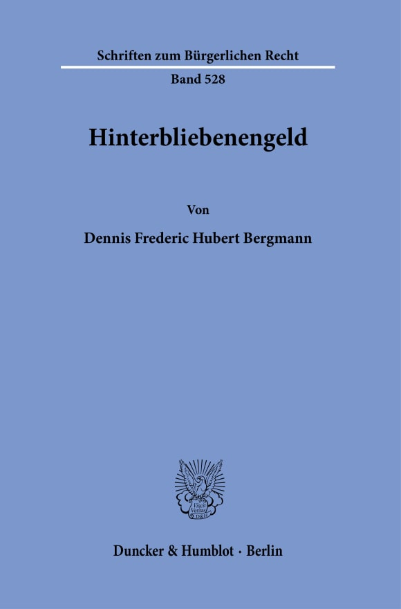 Cover Hinterbliebenengeld