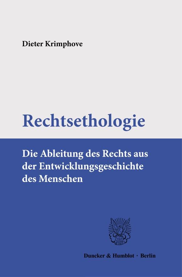 Cover Rechtsethologie