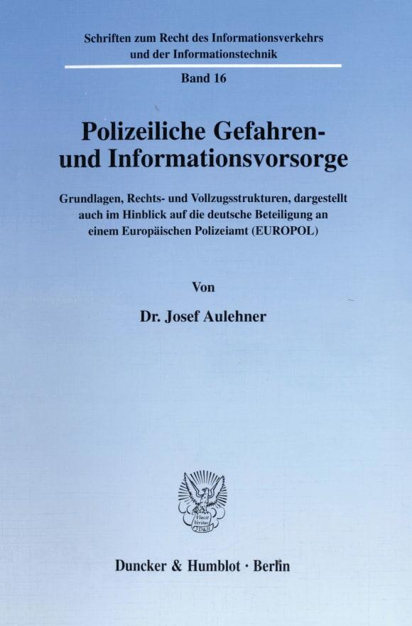 Cover Polizeiliche Gefahren- und Informationsvorsorge