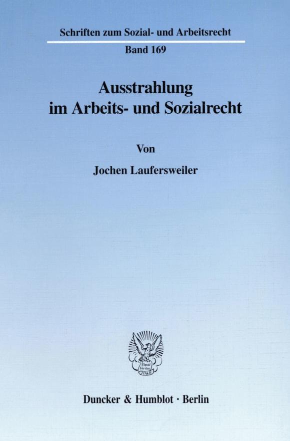 Cover Ausstrahlung im Arbeits- und Sozialrecht