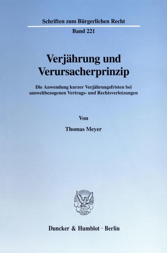 Cover Verjährung und Verursacherprinzip