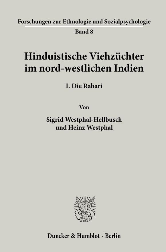 Cover Forschungsergebnisse zur Ethnologie und Sozialpsychologie (FES)