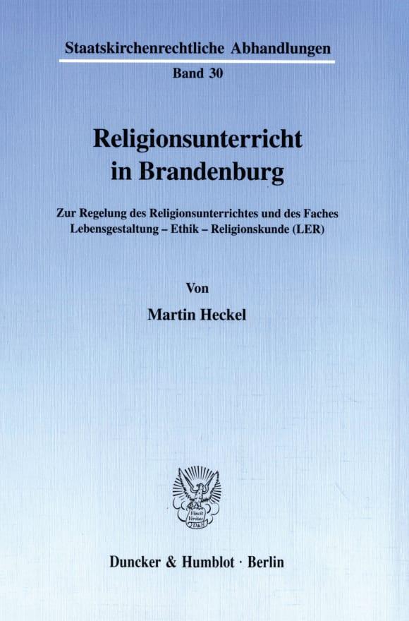 Cover Religionsunterricht in Brandenburg