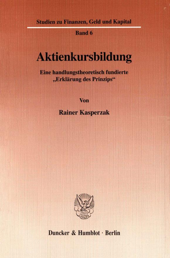 Cover Aktienkursbildung