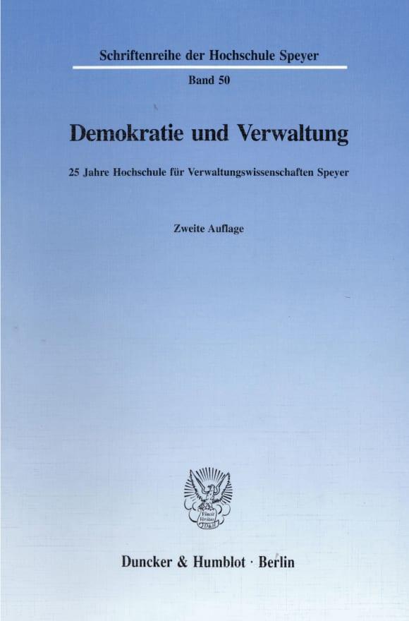 Cover Demokratie und Verwaltung