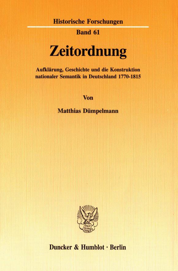 Cover Zeitordnung