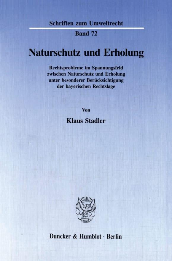 Cover Naturschutz und Erholung