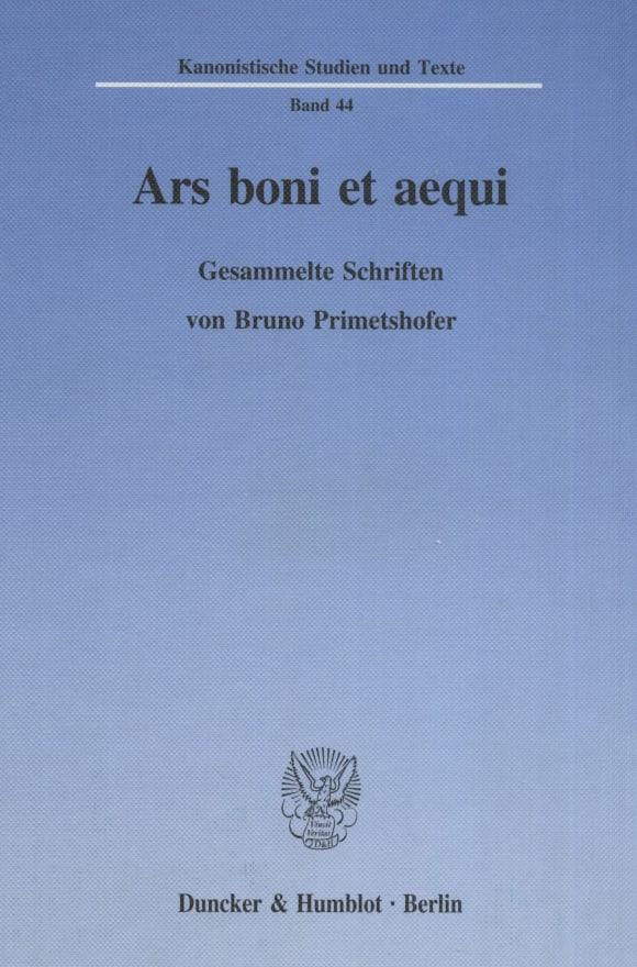 Cover Ars boni et aequi