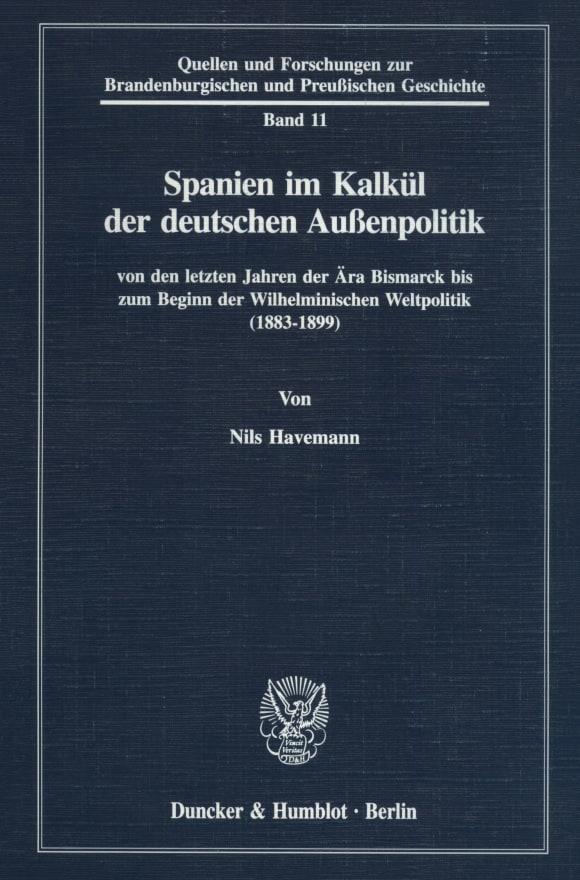 Cover Spanien im Kalkül der deutschen Außenpolitik