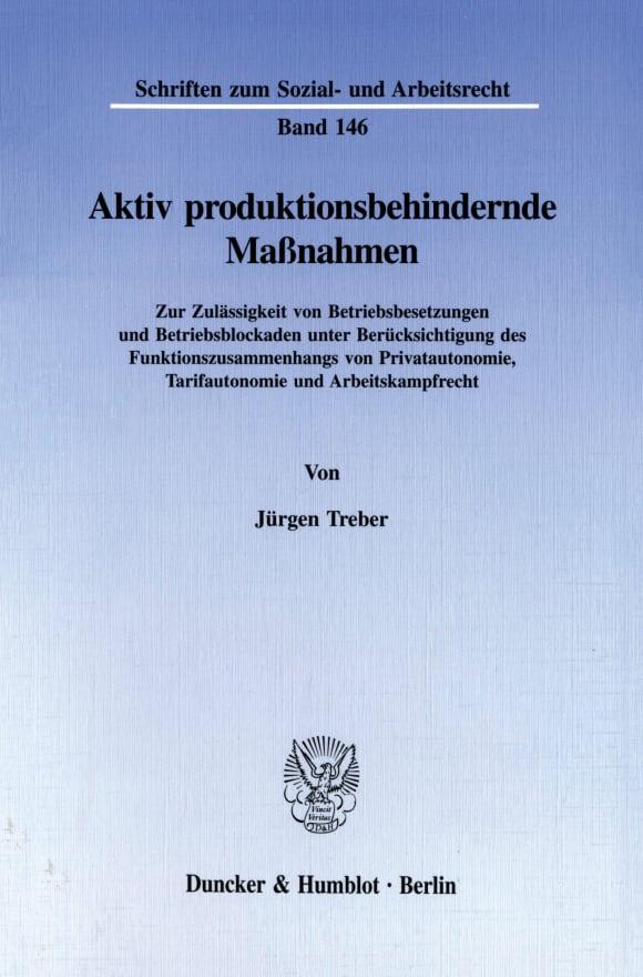 Cover Aktiv produktionsbehindernde Maßnahmen