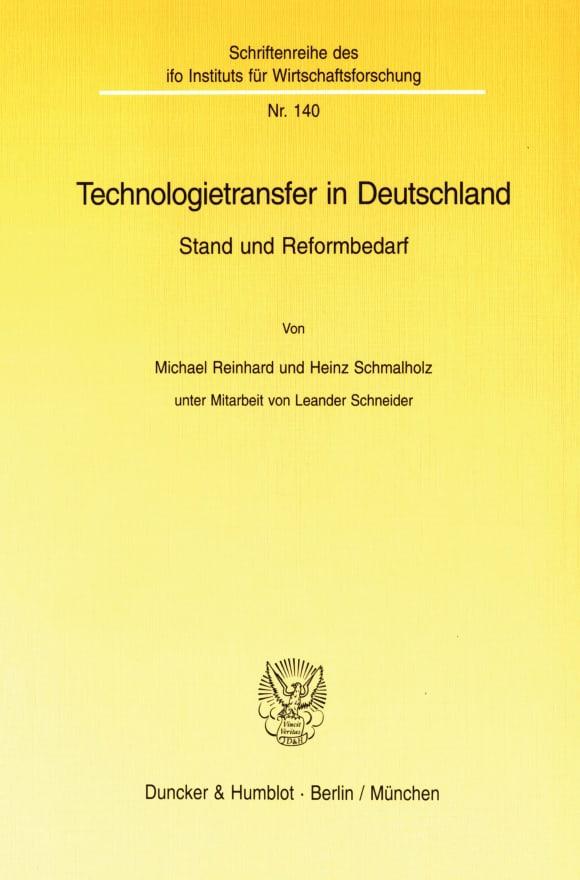 Cover Technologietransfer in Deutschland