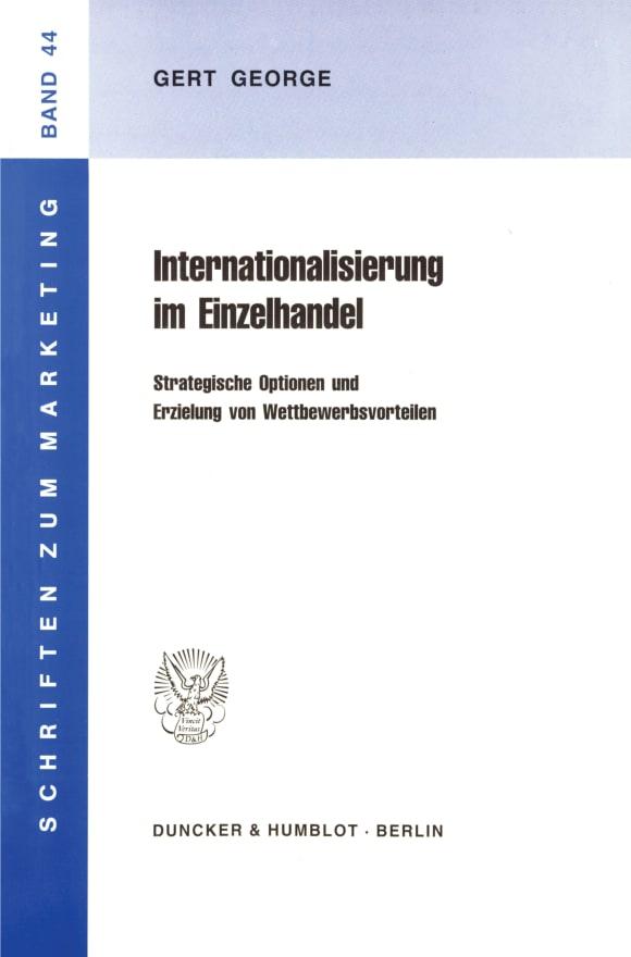Cover Internationalisierung im Einzelhandel