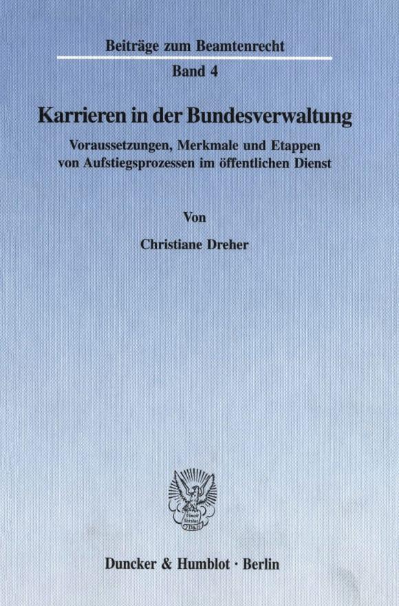 Cover Karrieren in der Bundesverwaltung