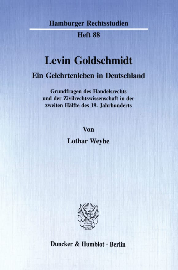 Cover Levin Goldschmidt