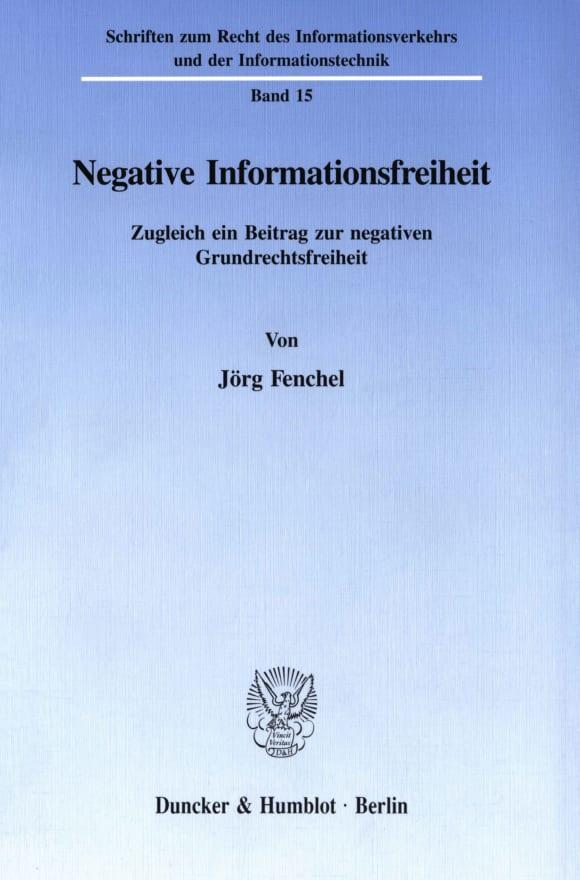 Cover Negative Informationsfreiheit
