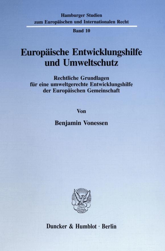 Cover Europäische Entwicklungshilfe und Umweltschutz