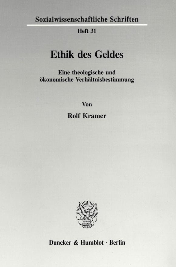Cover Ethik des Geldes
