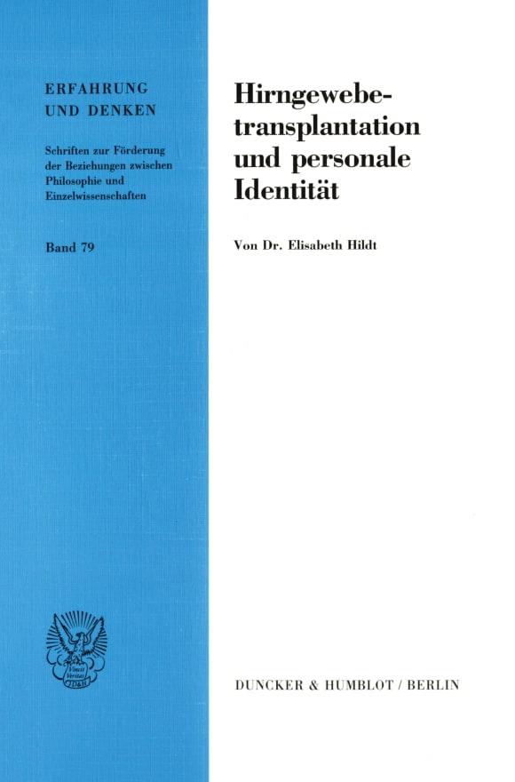 Cover Hirngewebetransplantation und personale Identität