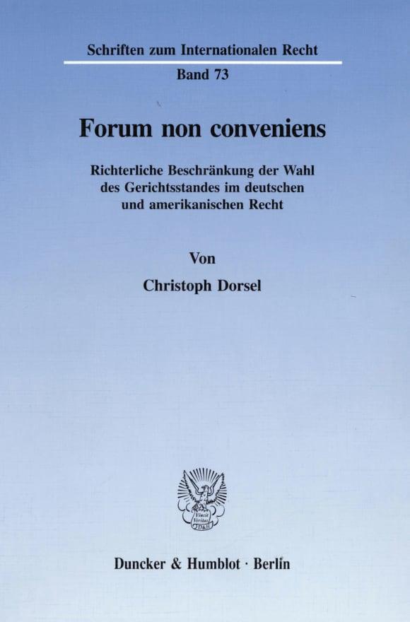 Cover Forum non conveniens