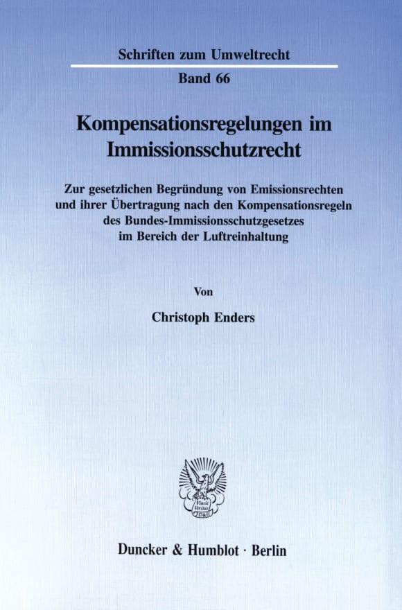 Cover Kompensationsregelungen im Immissionsschutzrecht