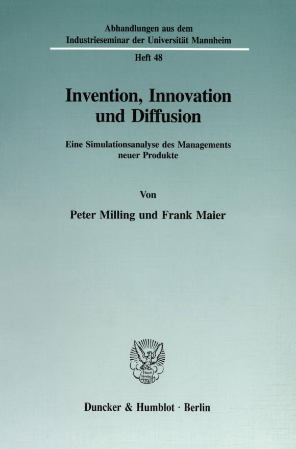 Cover Invention, Innovation und Diffusion