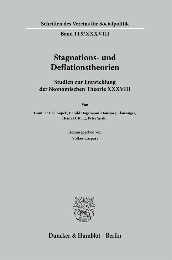 Cover Stagnations- und Deflationstheorien