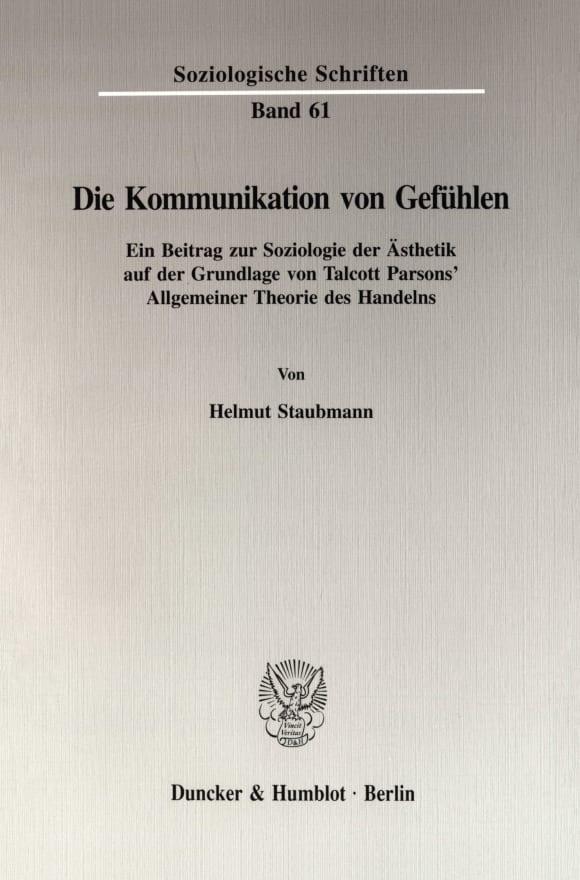 Cover Die Kommunikation von Gefühlen