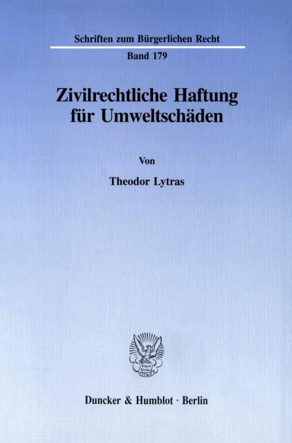 Cover Zivilrechtliche Haftung für Umweltschäden